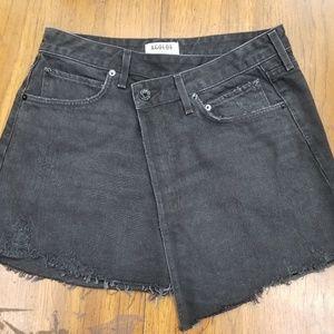 Agolde black denim skirt